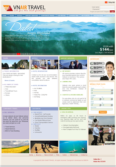 Thiet Ke Website VNAIR TRAVEL