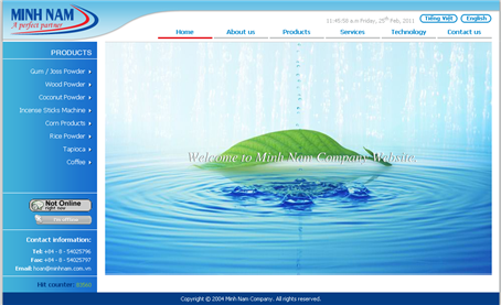 Thiet Ke Website Cong Ty Minh Nam Co Ltd