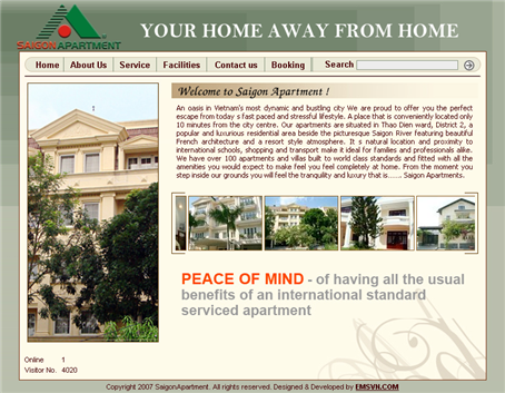 Thiet Ke Website Saigon Apartment